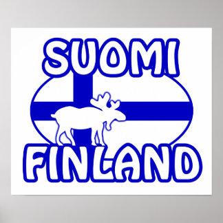Suomiフィンランドポスター ポスター