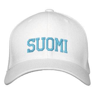 SUOMI (フィンランド)のウールの帽子 刺繍入りキャップ