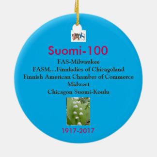 Suomi 100の百年祭の記念品1917-2017年 セラミックオーナメント