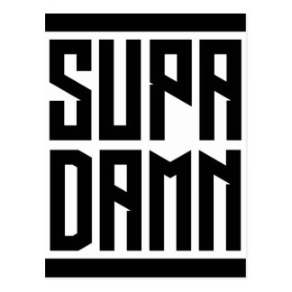 SUPADAMNの正方形の黒 ポストカード