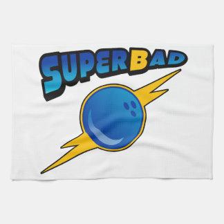 Superbadのボーリングのチームタオル キッチンタオル