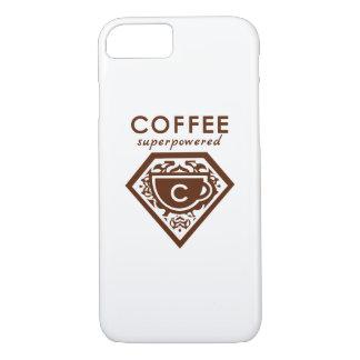 Supercaffeinatedのスーパーヒーロー-コーヒーブラウン iPhone 8/7ケース