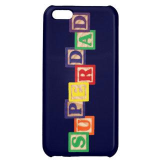 SUPERDADのヴィンテージの木のブロックのiPhone 5の場合 iPhone5Cケース