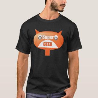 Supergeekの黒人男性のTシャツ Tシャツ