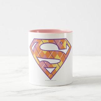 Supergirlのアーガイルのロゴ ツートーンマグカップ