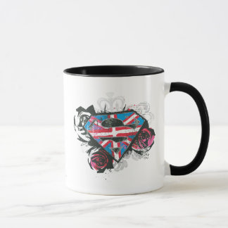 Supergirlのイギリスの旗およびバラ マグカップ
