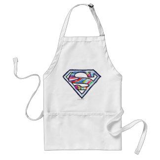 Supergirlのカラフルなスケッチのロゴ スタンダードエプロン