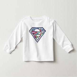 Supergirlのカラフルなスケッチのロゴ トドラーTシャツ