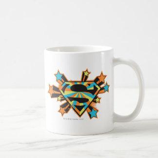 Supergirlのカラフルの星のロゴ コーヒーマグカップ