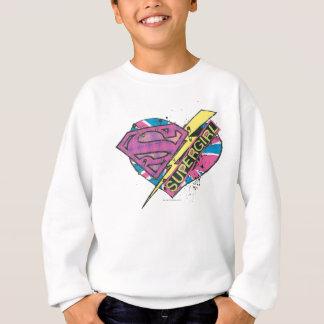 Supergirlのハートおよびボルト スウェットシャツ