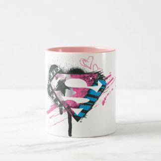 Supergirlのハートのロゴ ツートーンマグカップ