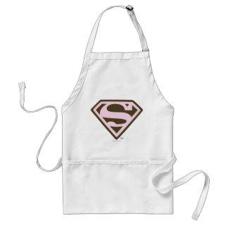 Supergirlのピンクおよびブラウンのロゴ スタンダードエプロン