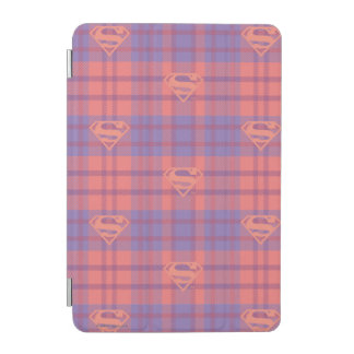 Supergirlのピンクおよび紫色パターン iPad Miniカバー