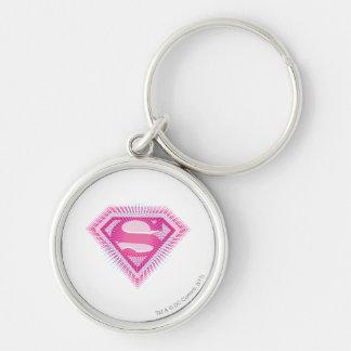 Supergirlのピンクのロゴ キーホルダー