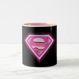 Supergirlのピンクのロゴ ツートーンマグカップ