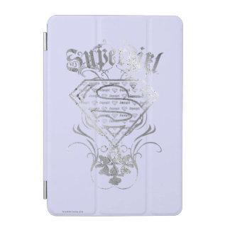 Supergirlのファンシーな銀製のロゴ iPad Miniカバー