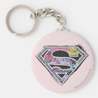 Supergirlのロゴのコラージュ キーホルダー