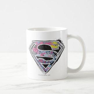 Supergirlのロゴのコラージュ コーヒーマグカップ