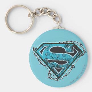 Supergirlのロゴの有刺鉄線および花 キーホルダー