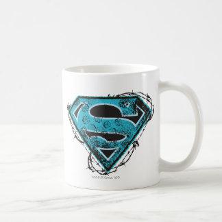 Supergirlのロゴの有刺鉄線および花 コーヒーマグカップ