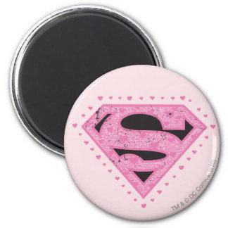 Supergirlの動揺してなロゴの黒およびピンク マグネット