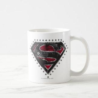 Supergirlの動揺してなロゴの黒および赤 コーヒーマグカップ