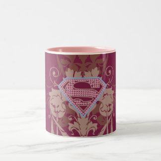 Supergirlの宝石のロゴ ツートーンマグカップ