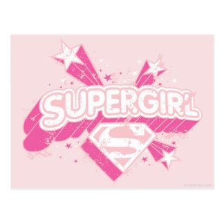 Supergirlの星およびロゴ ポストカード