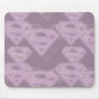 Supergirlの紫色のハーフトーンのロゴ マウスパッド
