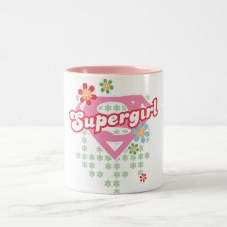 Supergirlの花の狂気 ツートーンマグカップ