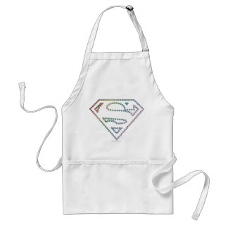 Supergirlの虹の輪郭のロゴ スタンダードエプロン