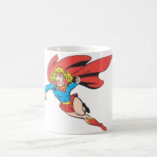 Supergirlの跳躍および穿孔器 コーヒーマグカップ