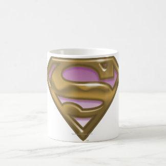 Supergirlの金ロゴ コーヒーマグカップ