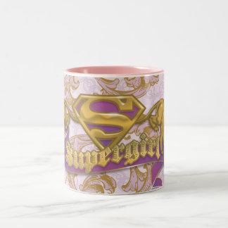 Supergirlの金猫3 ツートーンマグカップ