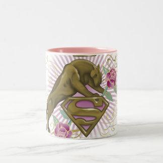 Supergirlの金猫4 ツートーンマグカップ
