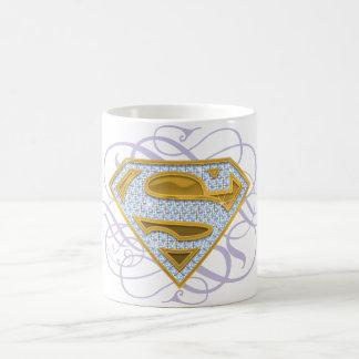 Supergirlの青は2つを宝石で飾ります コーヒーマグカップ