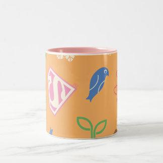 Supergirlの鳥及びオレンジ蜂 ツートーンマグカップ