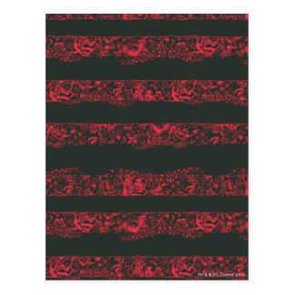 Supergirlの黒いおよび赤線パターン ポストカード