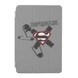 Supergirlの黒い安全ピン iPad Miniカバー