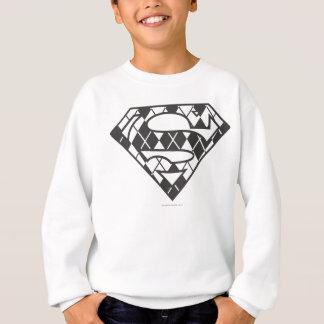 Supergirlの黒くアーガイル柄のなロゴ スウェットシャツ