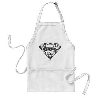 Supergirlの黒くアーガイル柄のなロゴ スタンダードエプロン