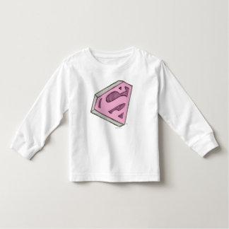 Supergirlはピンクのロゴをスケッチしました トドラーTシャツ