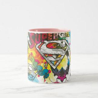 Supergirlルクスパターン ツートーンマグカップ