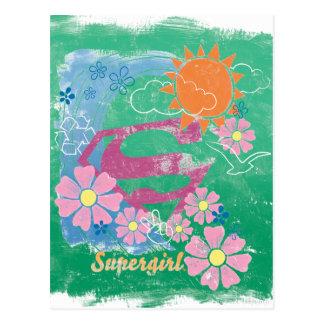Supergirl日曜日および愛 ポストカード
