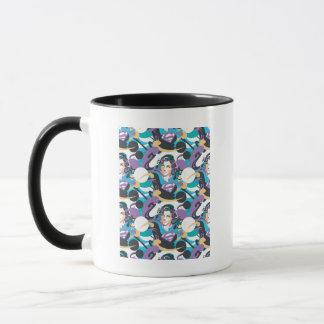 Supergirl色のしぶきの渦巻パターン5 マグカップ