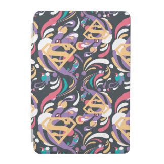 Supergirl色のしぶきの渦巻パターン8 iPad Miniカバー