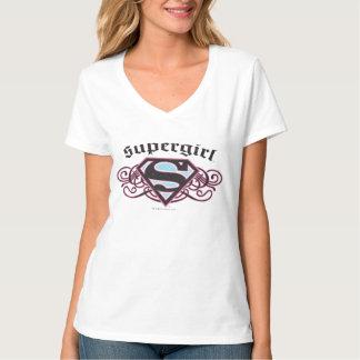 Supergirl Pinは黒およびピンクを除去します Tシャツ