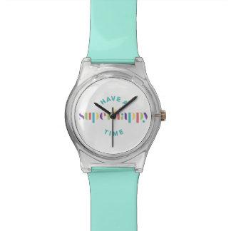 superhappy時間カスタマイズ可能な色の腕時計 腕時計