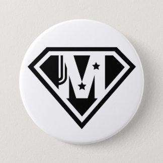 Supermomの母の日の円形ボタン 7.6cm 丸型バッジ