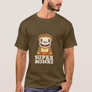 SuperMonkoの茶色 Tシャツ